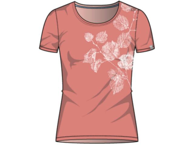 Odlo Kumano Print T-shirt Col ras-du-cou Femme, lantana/flower leaf